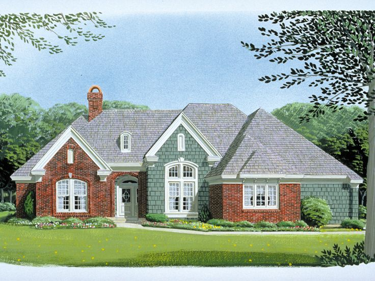Ranch House Plan, 054H-0040