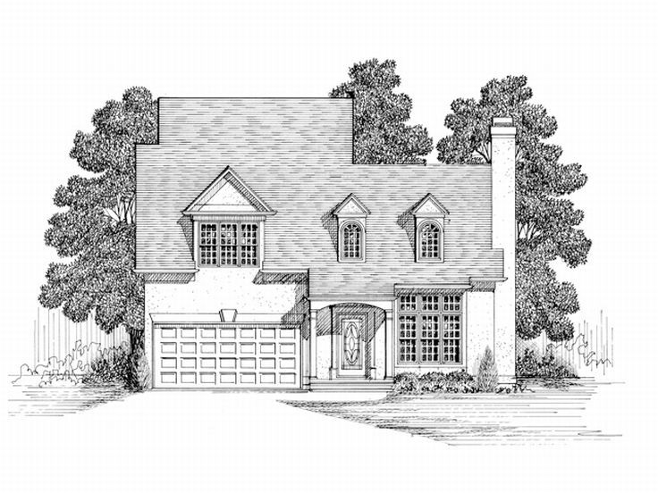 Two-Story House Plan, 007H-0018