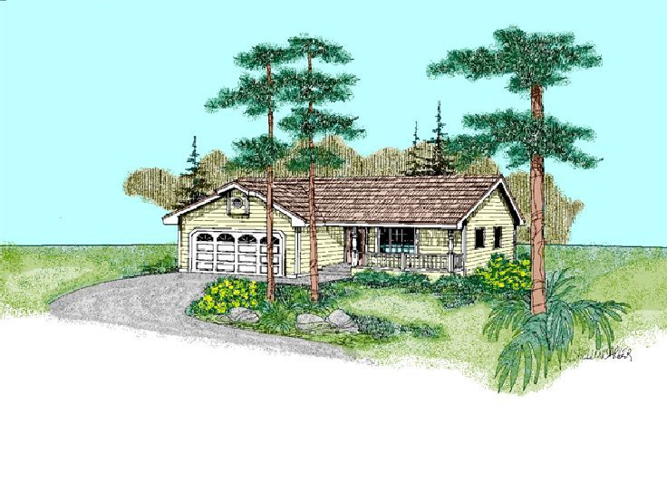Ranch House Plan, 013H-0070