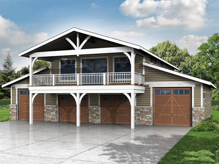 6 car garage plans 6 car garage plan with recreation for Free 2 car garage with apartment plans