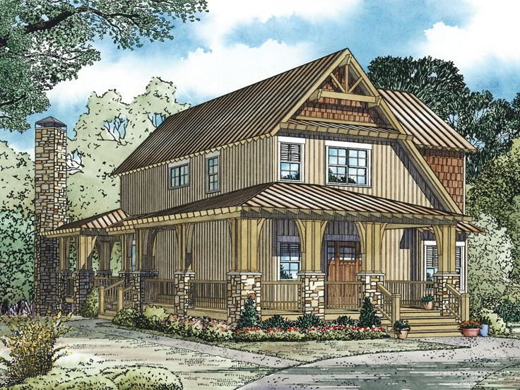 Narrow Lot Home Plan, 025H-0258