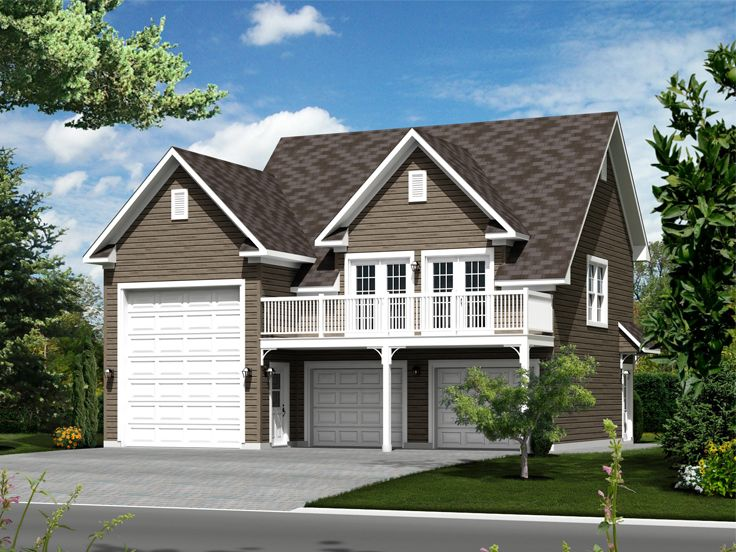 Garage apartment plans two car garage apartment plan for Garage designs with living quarters