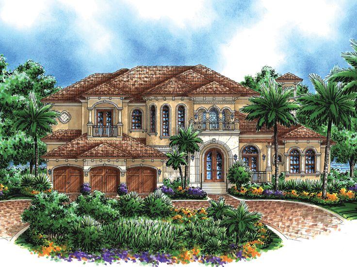 Unique mediterranean house plans home design and style for Mediterranean mansion floor plans