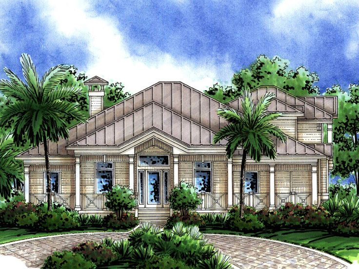 Coastal House Plan, 037H-0189