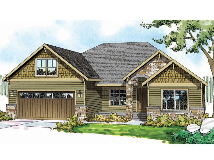 Ranch Home Design, 051H-0208