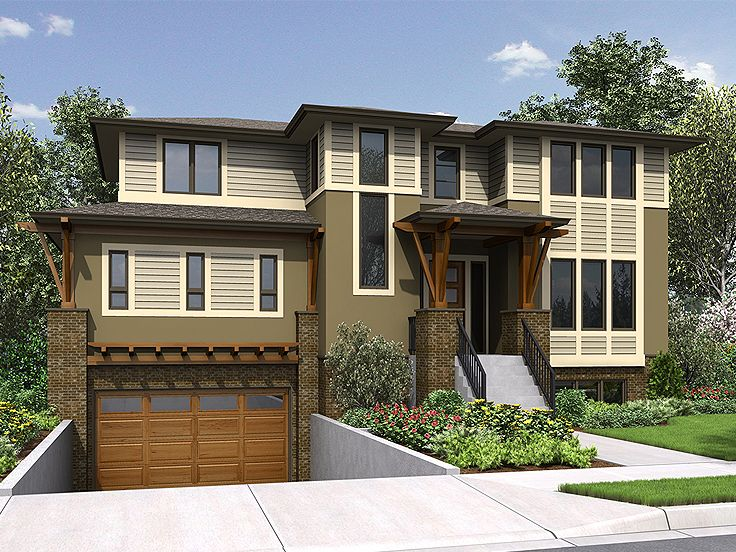 Contemporary Home Plan, 035H-0136