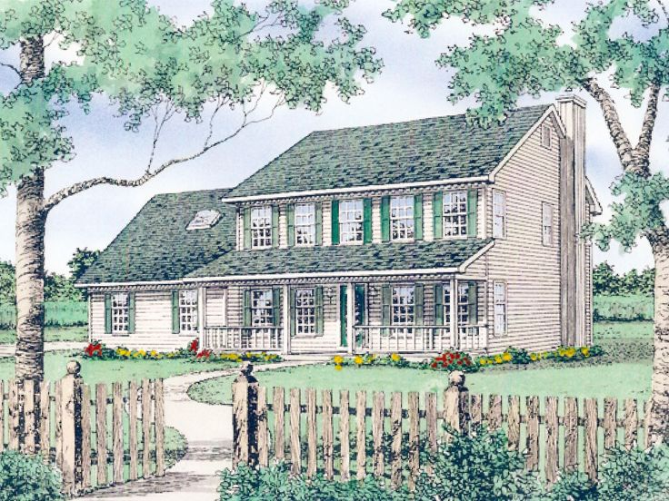 Country House Plan, 009H-0031