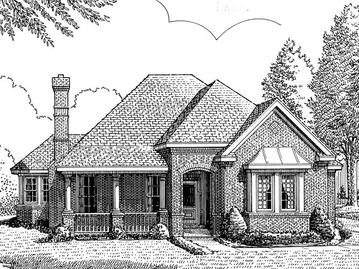Small House Plan, 054H-0051