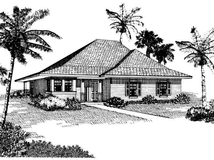 Ranch House Plan, 054H-0036