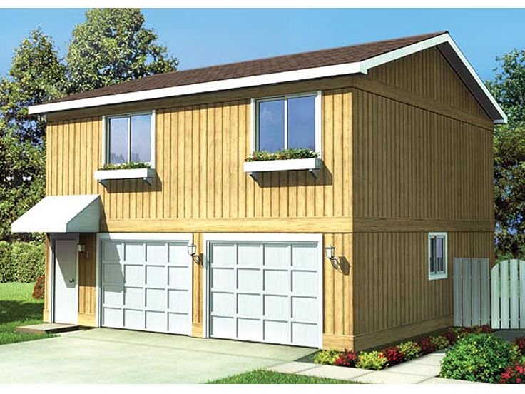 Garage Apartment Plan, 047G-0015