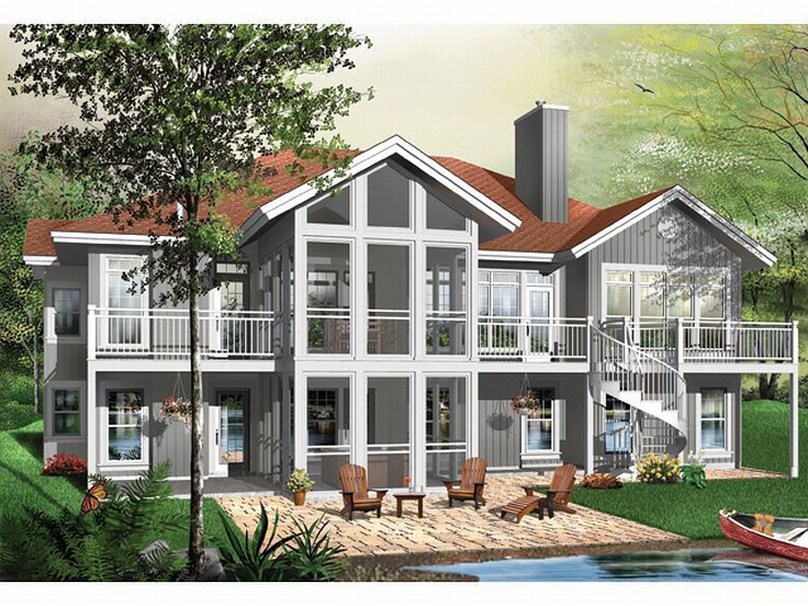 Luxury House, Rear, 027H-0108