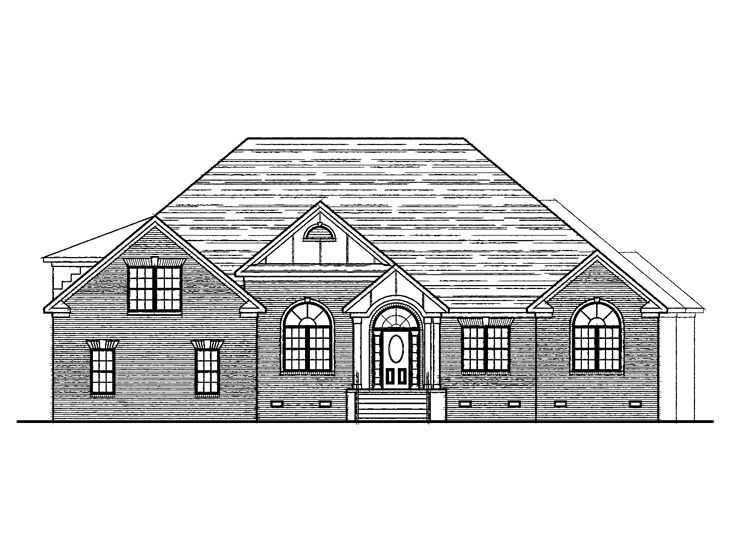 Traditional House Plan, 058H-0026
