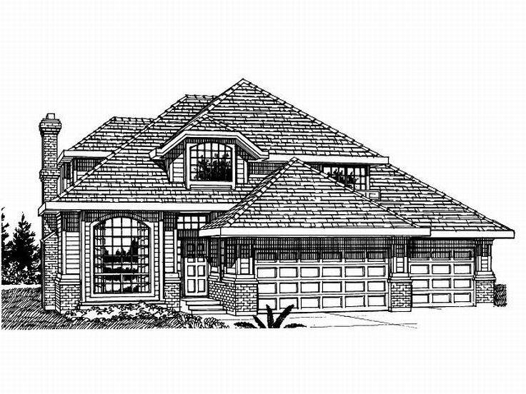 Two-Story Home Plan, 032H-0039