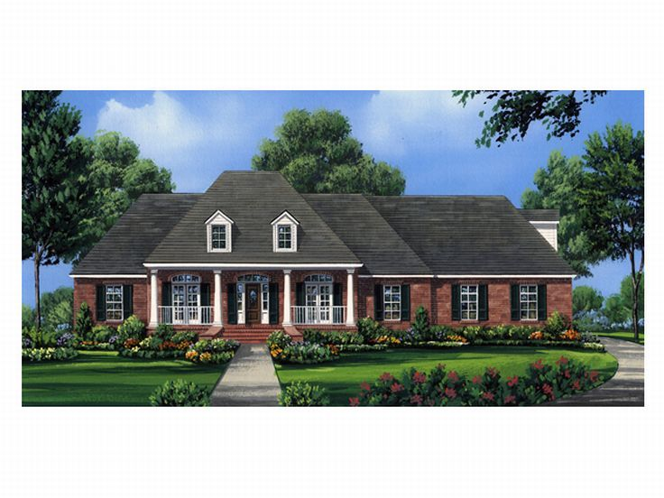 Ranch Home Plan, 001H-0110