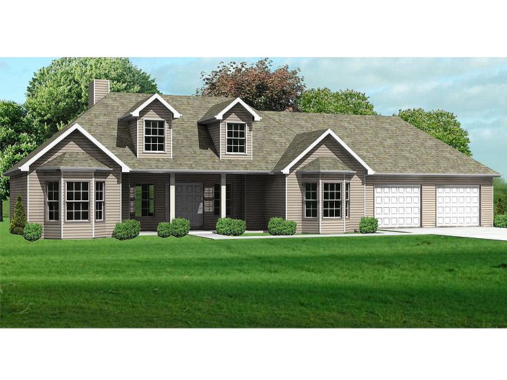 Ranch House Plan, 048H-0004