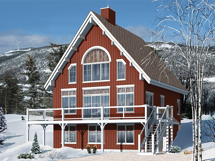 Chalet Home Plans 2 Story Chalet for Mountain Lot House Plan
