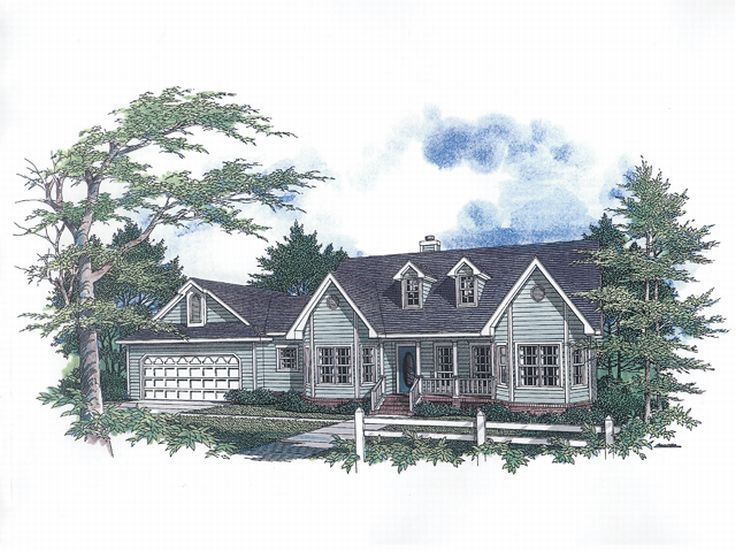 Country Home Plan, 004H-0038