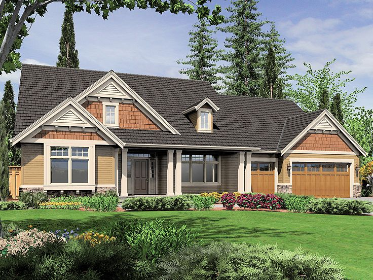 Country Craftsman Home, 034H-0030