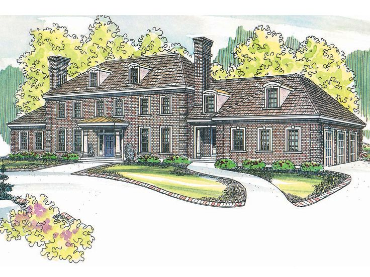 Colonial Home Plan, 051H-0088