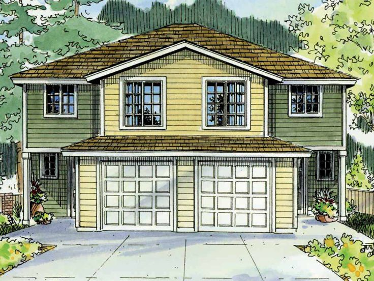 Traditional Duplex Plan, 051M-0019