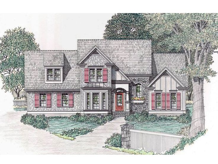 European House Plan, 045H-0008