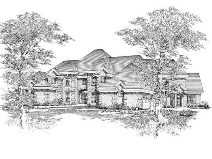 Luxurious 2-Story Home, 061H-0140