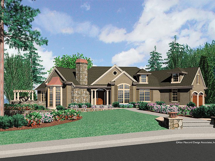 Plan 034h 0199 find unique house plans home plans and for One floor house exterior design