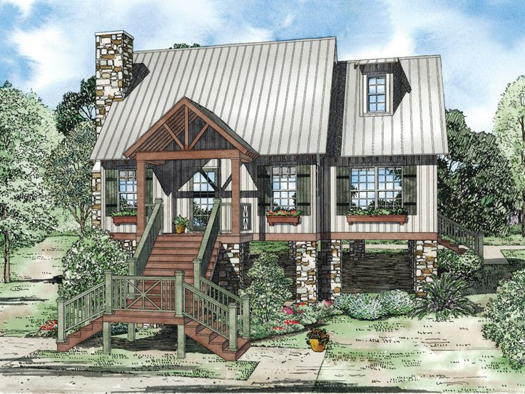 Vacation House Plan, 025H-0178