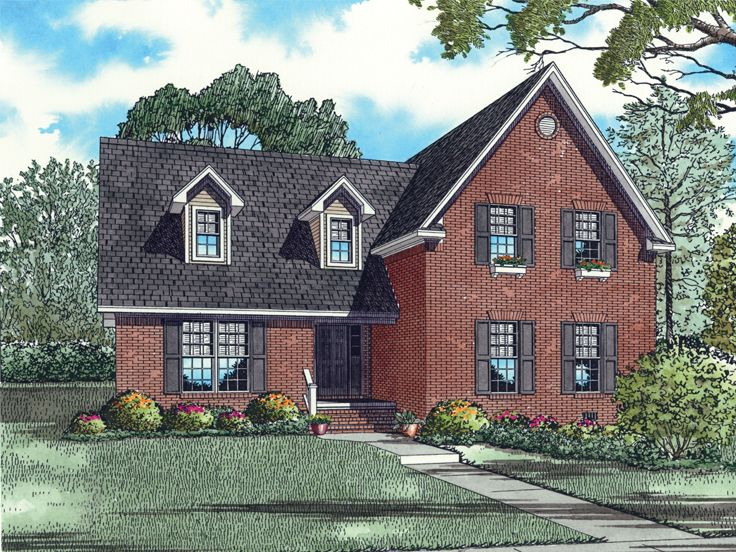 Cape Cod House Plan, 025H-0162