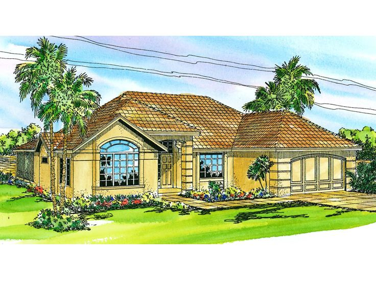 Sunbelt House Design, 051H-0051