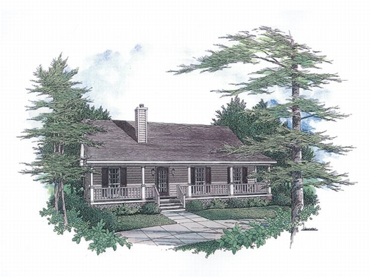 Country Home Plan, 004H-0015