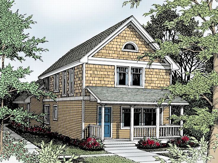 Narrow Lot Home Design, 026H-0038