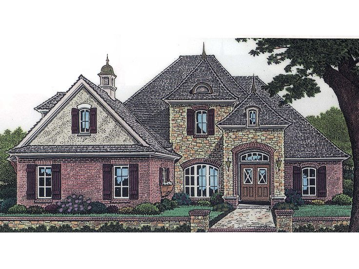 European House Plan, 002H-0044