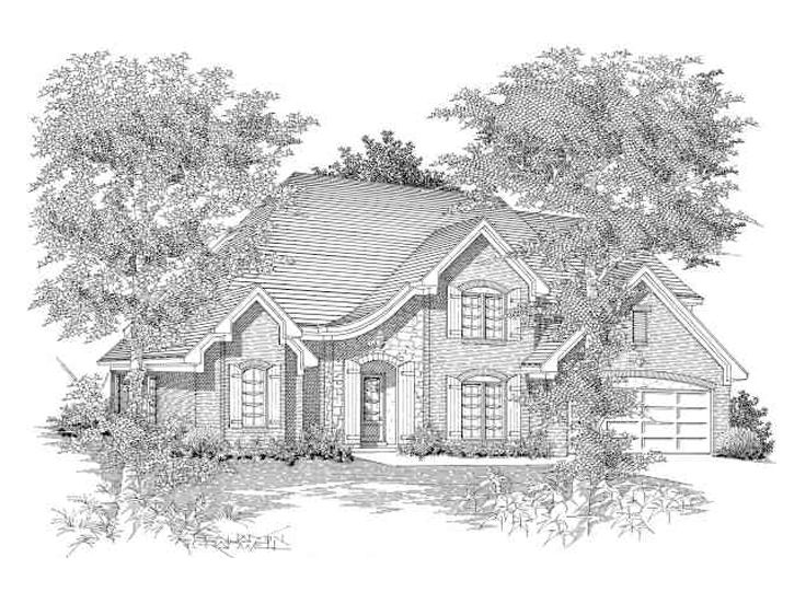 European House Plan, 061H-0093