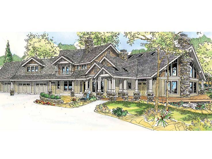 Premier Luxury Home Plan, 051H-0166