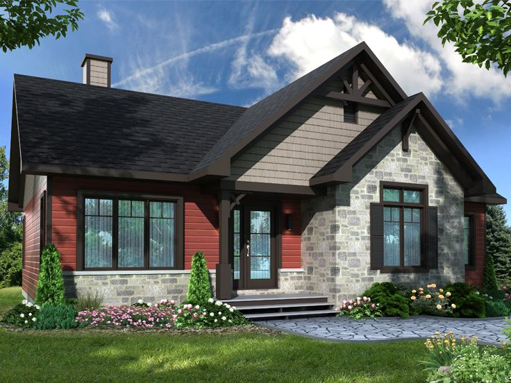 Small Ranch House Plan, 027H-0472