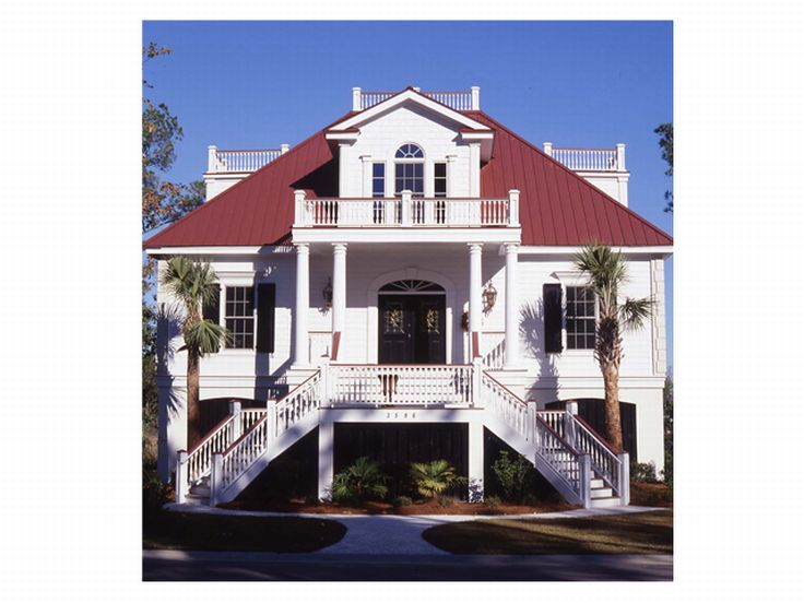 Charleston elevated home plans house design plans for Charleston style home plans