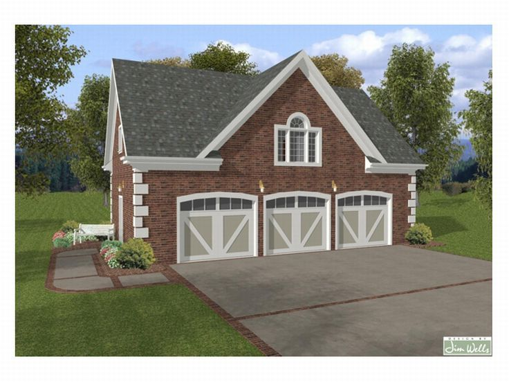 Garage apartment plans 3 car garage apartment plan with for Brick garage plans