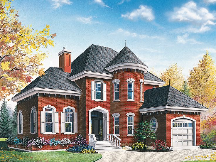 Two-Story House Plan, 027H-0204