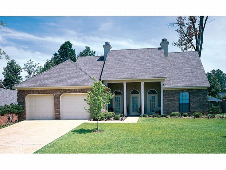 Ranch Home Plan, 021H-0072