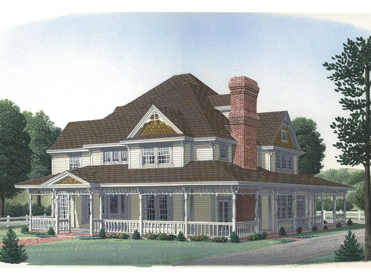 Country Victorian Home, 054H-0083