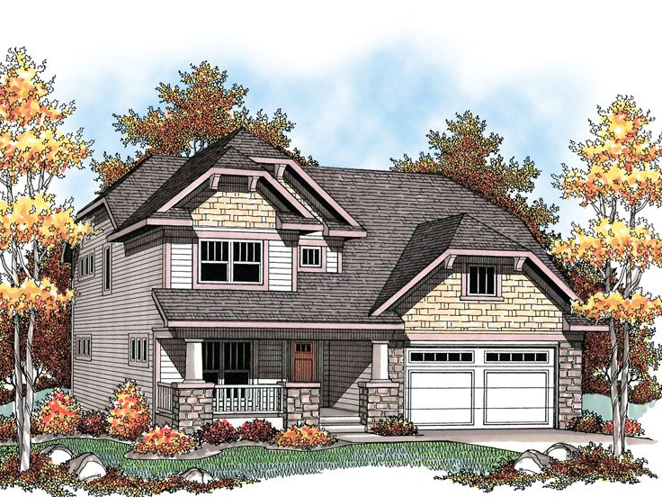 Craftsman House Plan, 020H-0192