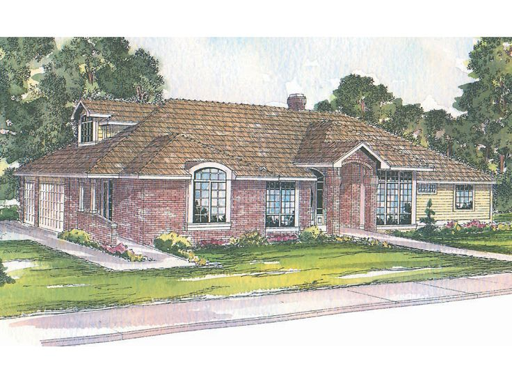 Ranch House Plan, 051H-0001