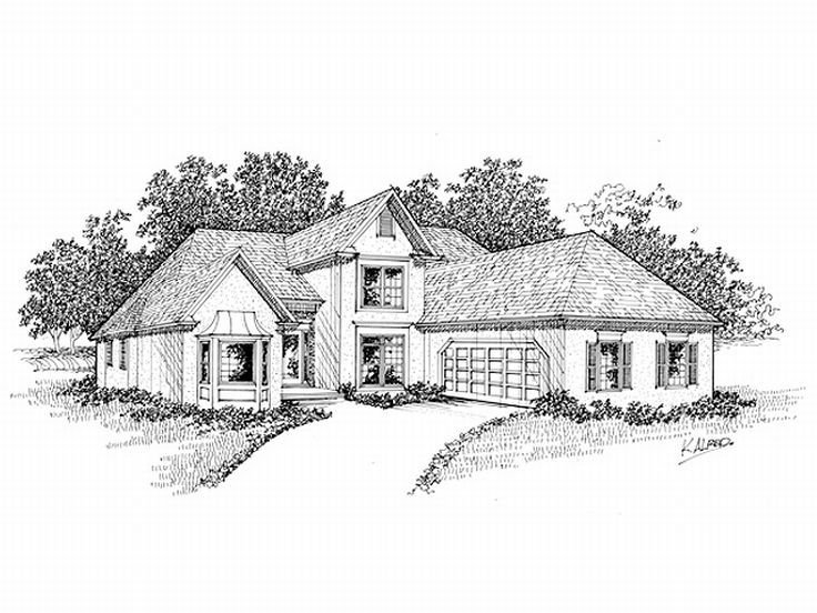 Sunbelt Home Plan, 007H-0077