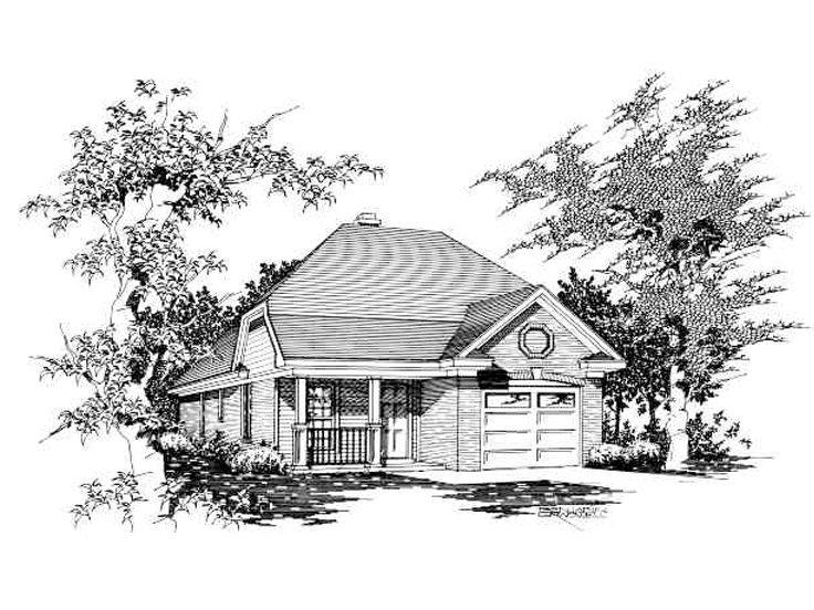 Narrow Lot Home Design, 061H-0004