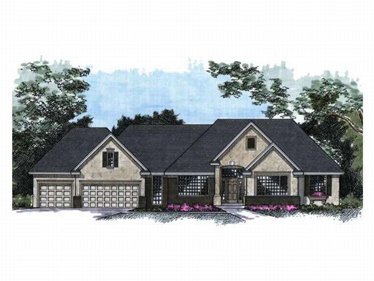 Ranch House Plan, 023H-0063