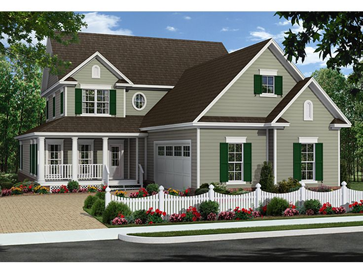 Two-Story House Plan, 001H-0196