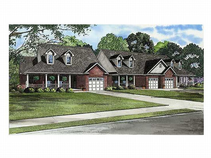 multi-family house plans, triplexes & townhouses – the house plan shop