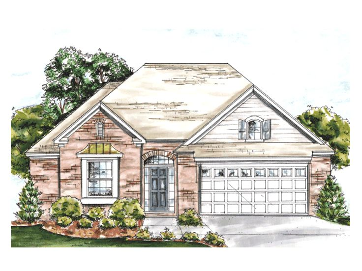European House Plan, 059H-0077