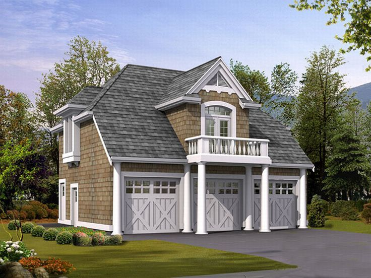 Carriage house plans craftsman carriage house plan for Large carriage house plans